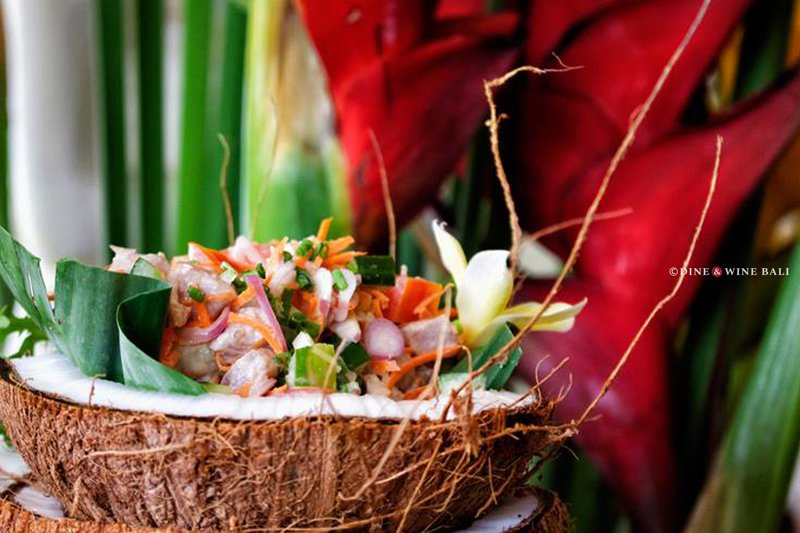 Dine & Wine Bali Restaurant Guide Mai Tai Bali Tahitian Cuisine Canggu Batu Bolong Poisson Cru Raw Fish with Coconut