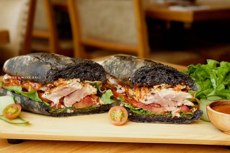 Dine & Wine Bali Restaurant Guide Soul in a Bowl Bali International Comfort Food Sanur Charcoal bred Sandwich