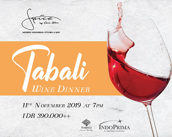 Dine & Wine Bali Spotlight Tabali Wine Dinner at Spice by Chris Salans